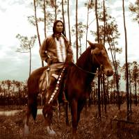 Native American on Horseback by I.M. Spadecaller