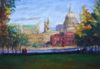 St.Pauls from the Tate Gallery.
