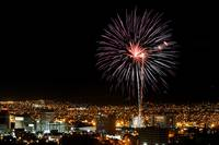 Fireworks over Downtown El Paso