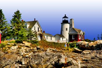 Pemaquid Point Lighthouse Descent by New Yorkled