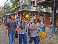 Young Men Singing on Mardi Grad Day, New Orleans