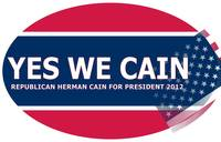 Yes We CainBumper Sticker oval