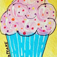 Pink Cupcake Art Prints & Posters by Hope Gibson