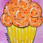 Orange Cupcake Prints & Posters