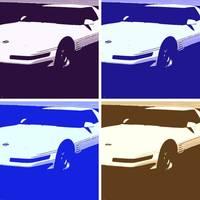 Corvette Stingray on Corvette Posters  Corvette Prints  Framed   Canvas Art