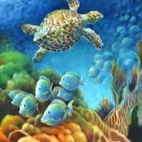 Sea eScape III - Gemstone Hawksbill Turtle by Nancy Tilles