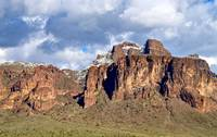 Snow on the Superstition Mountains