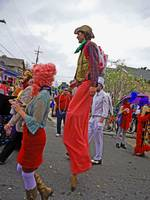 Cowboy on Stilts, Mardi Gras, New Orleans