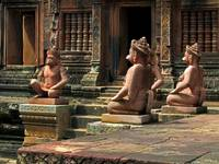 Banteay Srei Temple Guardians