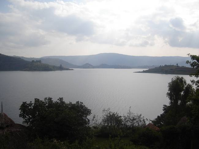 View over Lake Bunyonyi, Uganda