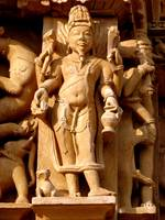 Parashuraam (God with a goatee) - an avatar of Vis