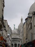 Street Towards Sacre Coeur