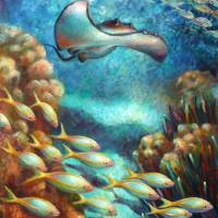 Seafood Chain I - Stingray on the Prowl by Nancy Tilles