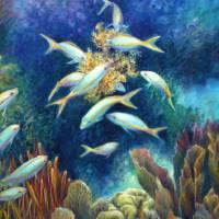 Seafood Chain III - Feeding Frenzy by Nancy Tilles