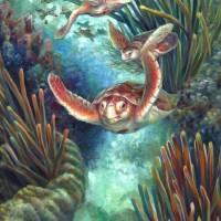 Loggerhead Sea Journey III Art Prints & Posters by Nancy Tilles