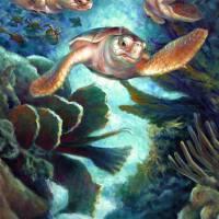 Loggerhead Sea Journey II by Nancy Tilles
