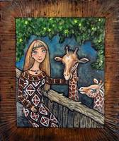 Andi and Giraffe Kids