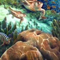 Loggerhead Sea Journey I by Nancy Tilles