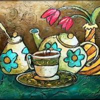 """""""Tea and Tulips"""" by solamar7"""