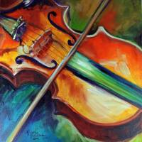 VIOLIN ABSTRACT 1818 by Marcia Baldwin