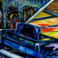 """JAZZ PIANO 2 NEW ORLEANS MUSIC by M BALDWIN"" by MBaldwinFineArt2006"
