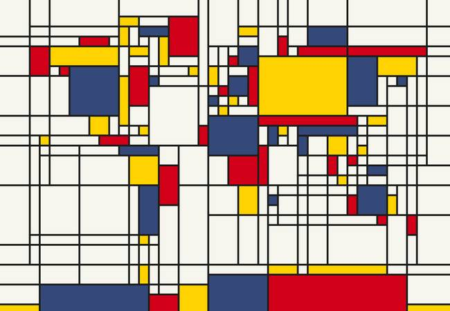 World map abstract mondrian style by michael tompsett gumiabroncs Gallery