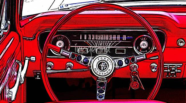Vintage ford mustang art are not