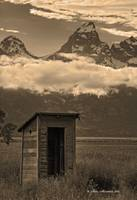 Old Outhouse in the Tetons