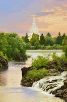 20x30 Morning Waterfall Idaho Falls