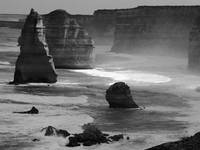 The Twelve Apostles in sea spray