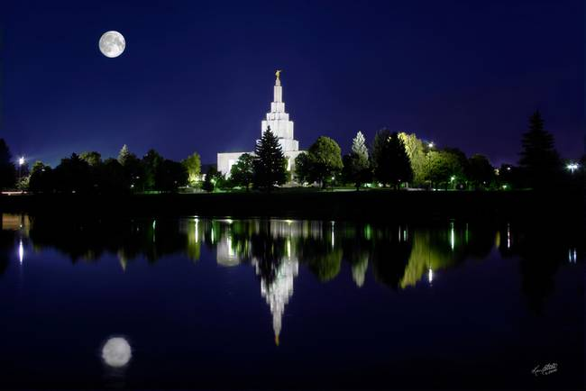 20x30 Midnight Moon Idaho Falls Temple