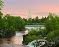 20x24 Waterfall Sunrise Idaho Falls Temple