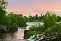 20x30 Waterfall Sunrise Idaho Falls Temple