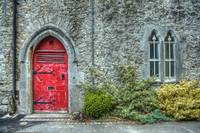 The Abbey's Red Door