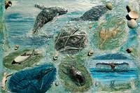 Memory of Ocean Kinship Collage Painting