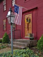 New England Door and Flag