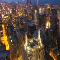 Chicago City Lights by Roger Dullinger