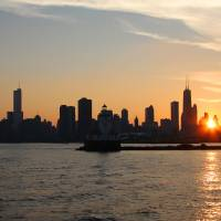 Chicago Skyline Sunset by Roger Dullinger