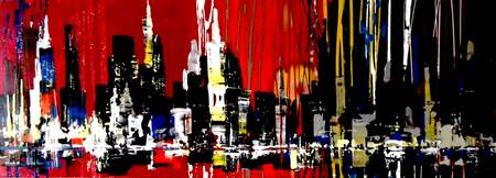 skyline city paintings