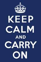 Keep Calm and Carry On (Navy)