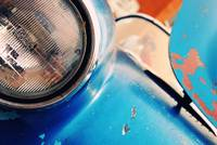 Blue Rusted Headlight