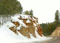 Tonto Rim Road in Winter view 1