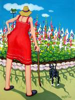 Eden's Garden - Funny Elderly Woman and Cat