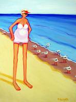 Shorebirds of a Feather - Women Beach Seagulls
