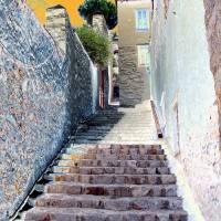 Stairs 7 Hydra Island Greece Art Prints & Posters by Cris Orfescu