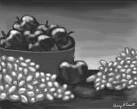 Apples & Grapes B&W