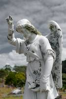 Grieving Angel on the old cemetery
