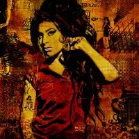"""Amy Winehouse Canvas"" by Dancin"