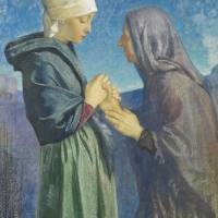 """""""Mary and Elizabeth by Dorothy Webster Hawksley"""" by fineartmasters"""
