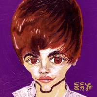 Bieber Fever - Justin Bieber Art Prints & Posters by Ebenlo - Painter of Song